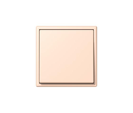 LS 990 in Les Couleurs® Le Corbusier | Schalter 32091 rose pâle by JUNG | Two-way switches