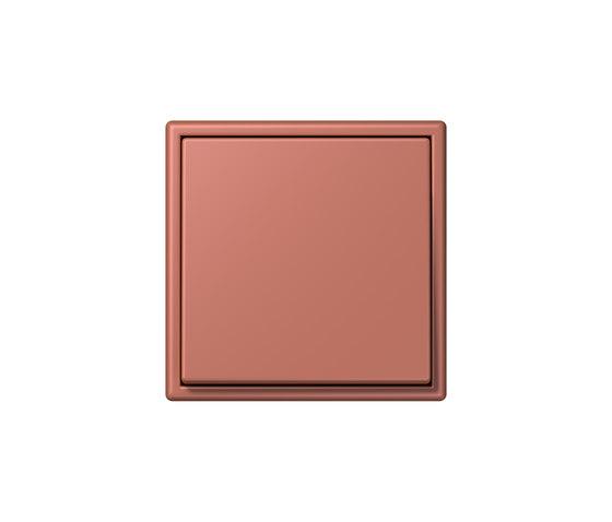 LS 990 in Les Couleurs® Le Corbusier | Schalter 32121 terre sienne brique by JUNG | Two-way switches