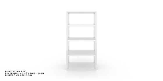 SHELF II-IV-I special edition - piano lacquer white by Rechteck | Shelving