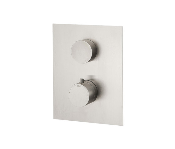Emotion 5 mm shower flush-mounted with thermostat and 2-way diverter by CONTI+ | Shower controls