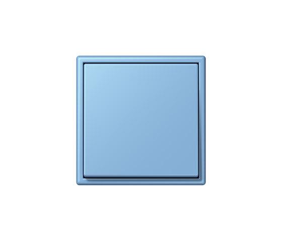 LS 990 in Les Couleurs® Le Corbusier | Schalter 4320N bleu céruléen 5 by JUNG | Two-way switches