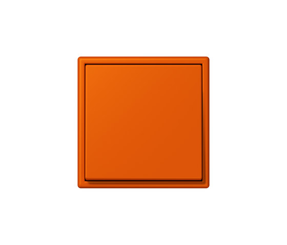 LS 990 in Les Couleurs® Le Corbusier | Schalter 4320S orange vif by JUNG | Two-way switches