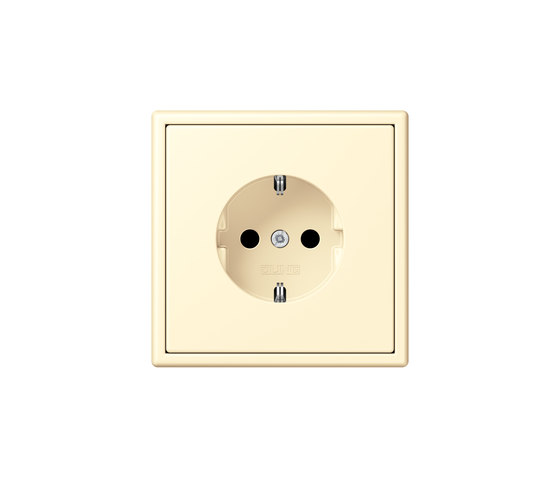 LS 990 in Les Couleurs® Le Corbusier socket 32001 blanc by JUNG | Schuko sockets