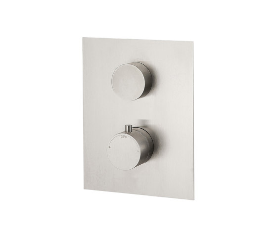 Emotion 5 mm shower flush-mounted with thermostat and 3-way diverter by CONTI+   Shower controls