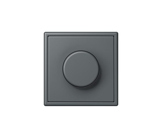 LS 990 in Les Couleurs® Le Corbusier | rotary dimmer 32010 gris foncé by JUNG | Rotary switches