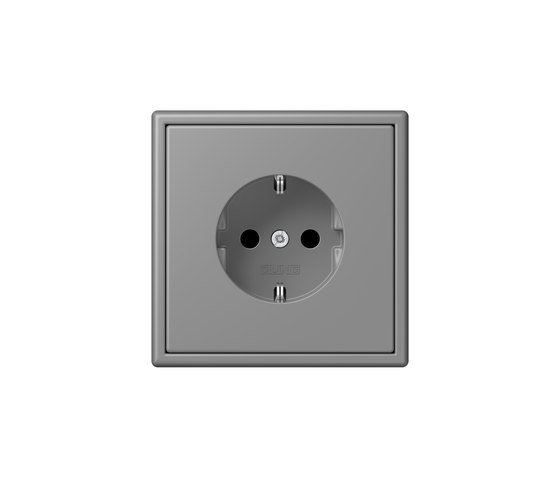 LS 990 in Les Couleurs® Le Corbusier socket 32011 gris 31 by JUNG | Schuko sockets