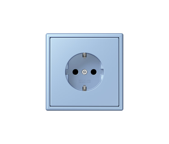 LS 990 in Les Couleurs® Le Corbusier | socket 32021 outremer moyen by JUNG | Schuko sockets