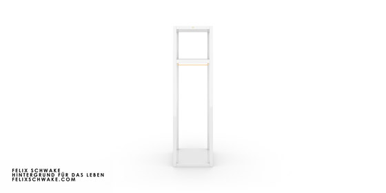 SHELF II-IV-X-I special edition - piano lacquer white by Rechteck | Coat racks