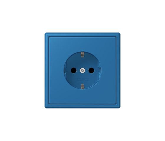 LS 990 in Les Couleurs® Le Corbusier socket 32030 bleu céruléen 31 by JUNG | Schuko sockets