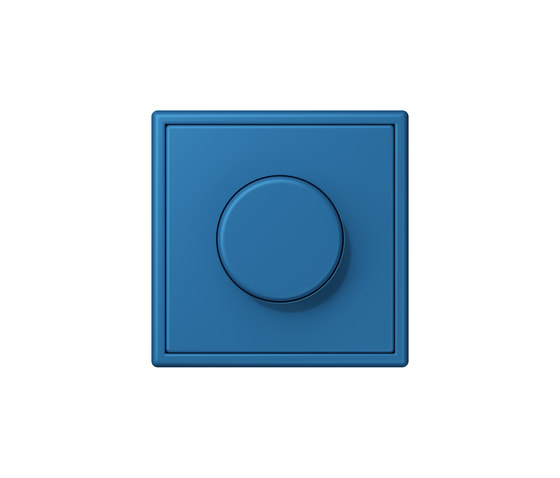 LS 990 in Les Couleurs® Le Corbusier | rotary dimmer 32030 bleu céruléen 31 by JUNG | Schuko sockets