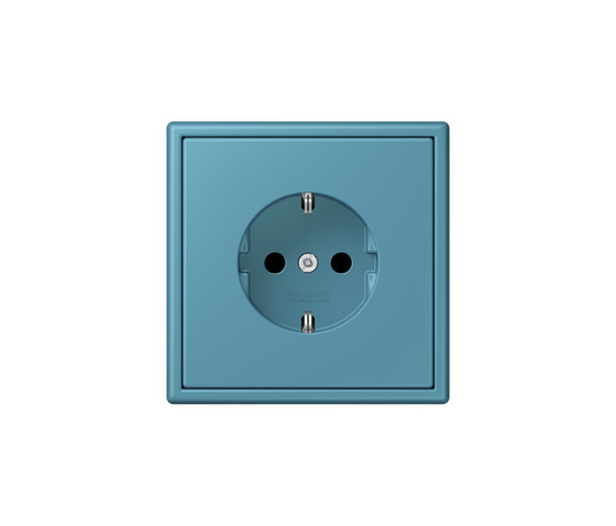 LS 990 in Les Couleurs® Le Corbusier socket 32031 céruléen vif by JUNG | Schuko sockets