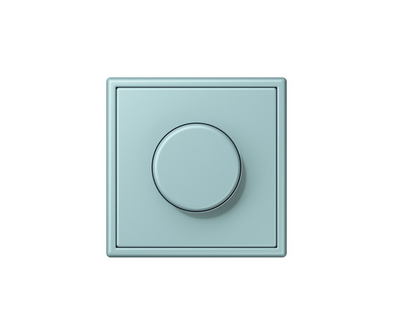LS 990 in Les Couleurs® Le Corbusier rotary dimmer 32033 céruléen clair by JUNG | Schuko sockets