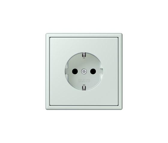 LS 990 in Les Couleurs® Le Corbusier socket 32034 céruléen pâle by JUNG | Schuko sockets
