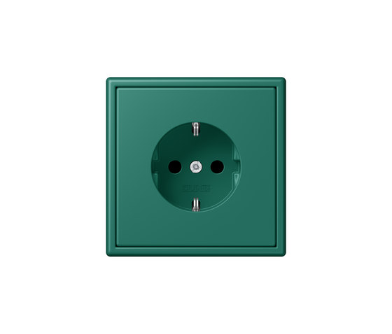 LS 990 in Les Couleurs® Le Corbusier | socket 32040 vert anglais by JUNG | Schuko sockets
