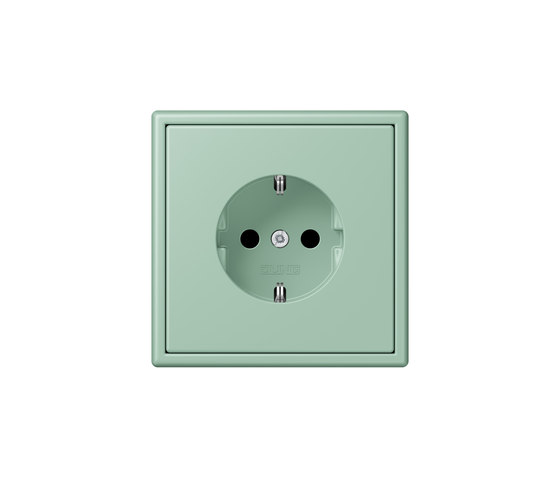 LS 990 in Les Couleurs® Le Corbusier socket 32041 vert anglais clair by JUNG | Schuko sockets