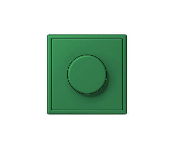 LS 990 in Les Couleurs® Le Corbusier | rotary dimmer 32050 vert foncé by JUNG | Rotary switches