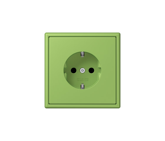 LS 990 in Les Couleurs® Le Corbusier socket 32051 vert 31 by JUNG | Schuko sockets