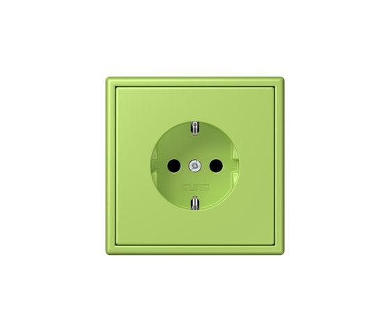 LS 990 in Les Couleurs® Le Corbusier | socket 32052 vert clair by JUNG | Schuko sockets