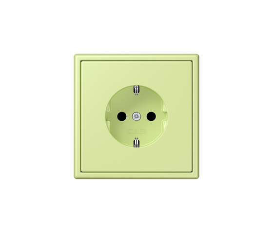 LS 990 in Les Couleurs® Le Corbusier socket 32053 vert jaune clair by JUNG | Schuko sockets