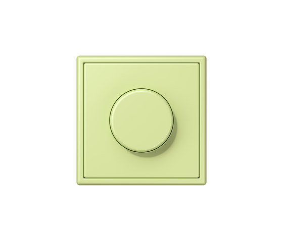 LS 990 in Les Couleurs® Le Corbusier | rotary dimmer 32053 vert jaune clair by JUNG | Rotary switches