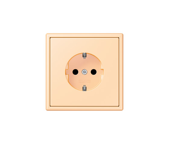 LS 990 in Les Couleurs® Le Corbusier socket 32060 ocre by JUNG | Schuko sockets