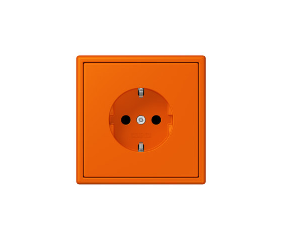 LS 990 in Les Couleurs® Le Corbusier | socket 32080 orange by JUNG | Schuko sockets