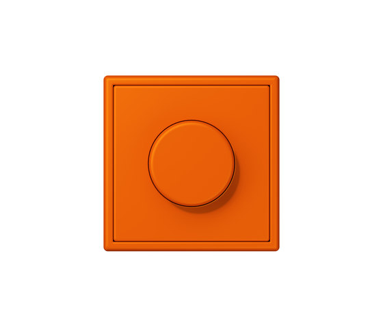 LS 990 in Les Couleurs® Le Corbusier | rotary dimmer  32080 orange by JUNG | Rotary switches