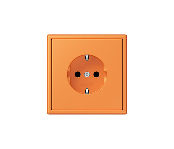 LS 990 in Les Couleurs® Le Corbusier | socket 32081 orange clair by JUNG | Schuko sockets