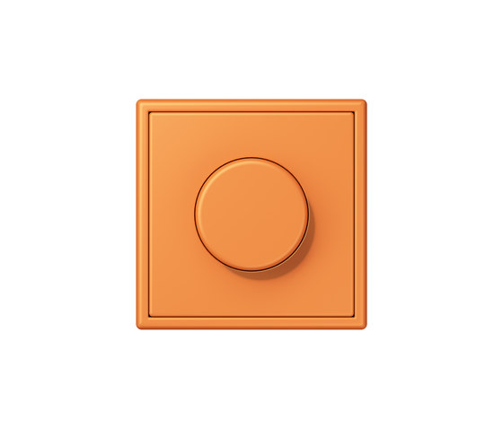 LS 990 in Les Couleurs® Le Corbusier | rotary dimmer 32081 orange clair by JUNG | Rotary switches