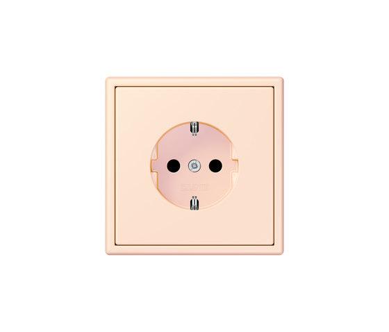 LS 990 in Les Couleurs® Le Corbusier   socket 32082 orange pâle by JUNG   Schuko sockets