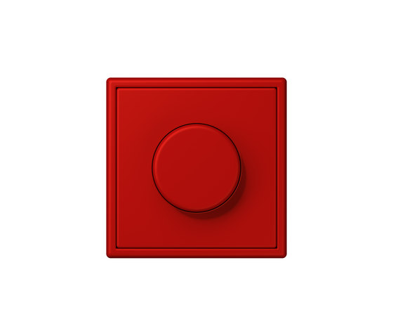 LS 990 in Les Couleurs® Le Corbusier | rotary dimmer 32090 rouge vermillon 31 by JUNG | Rotary switches