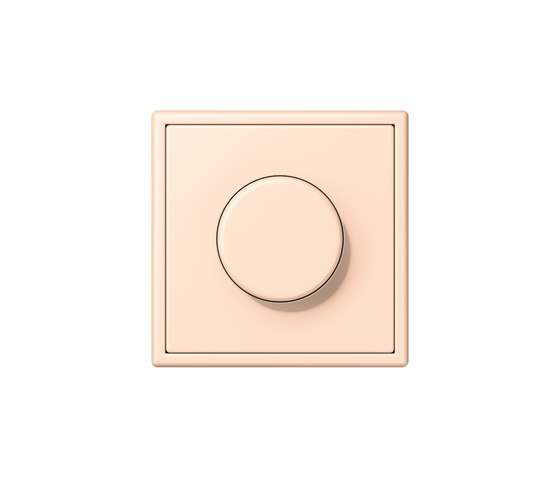 LS 990 in Les Couleurs® Le Corbusier | rotary dimmer 32091 rose pâle by JUNG | Rotary switches