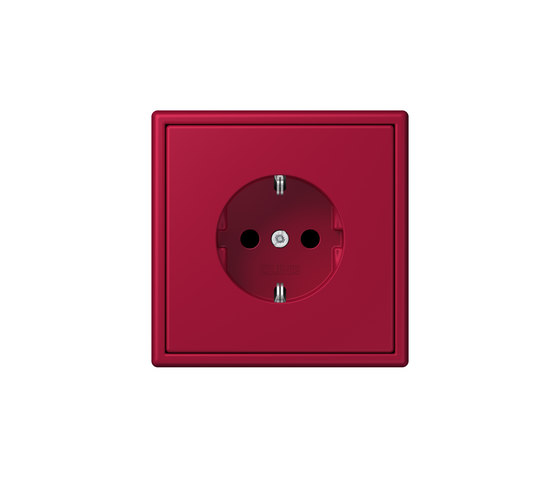 LS 990 in Les Couleurs® Le Corbusier | socket 32100 rouge carmin by JUNG | Schuko sockets