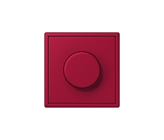 LS 990 in Les Couleurs® Le Corbusier | rotary dimmer 32100 rouge carmin by JUNG | Rotary switches
