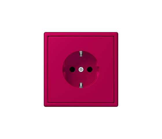 LS 990 in Les Couleurs® Le Corbusier   socket 32101 rouge rubia by JUNG   Schuko sockets