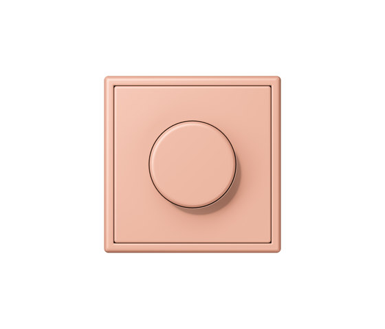 LS 990 in Les Couleurs® Le Corbusier | rotary dimmer 32102 rose clair by JUNG | Rotary switches