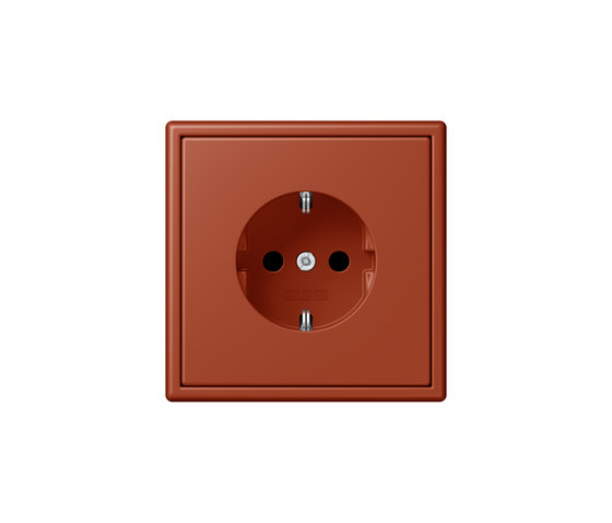 LS 990 in Les Couleurs® Le Corbusier | socket 32110 l'ocre rouge by JUNG | Schuko sockets