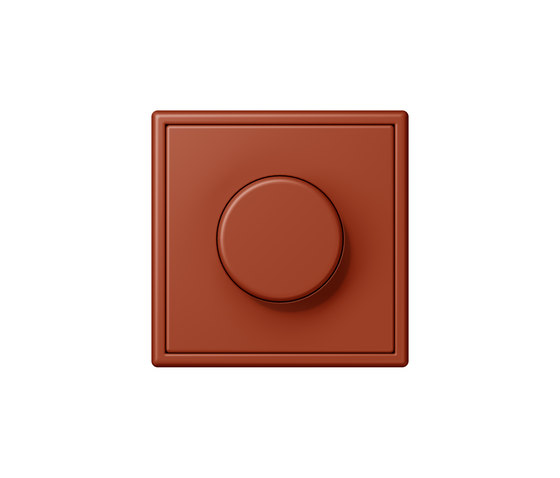 LS 990 in Les Couleurs® Le Corbusier rotary dimmer 32110 l'ocre rouge di JUNG | Prese Schuko