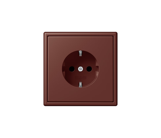 LS 990 in Les Couleurs® Le Corbusier socket 32120 terre sienne brûlée 31 by JUNG | Schuko sockets
