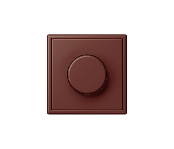 LS 990 in Les Couleurs® Le Corbusier | rotary dimmer 32120 terre sienne brûlée 31 by JUNG | Rotary switches