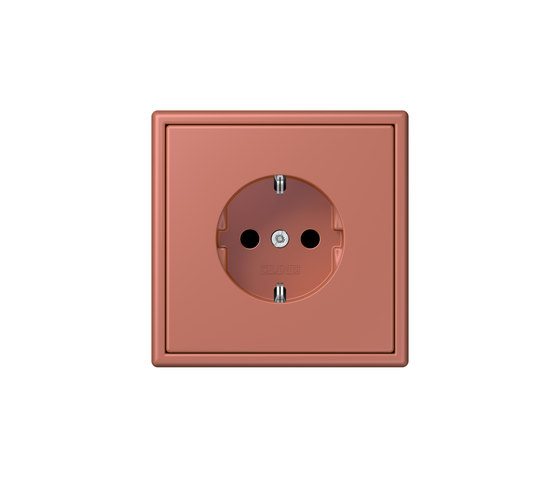 LS 990 in Les Couleurs® Le Corbusier socket 32121 terre sienne brique by JUNG | Schuko sockets