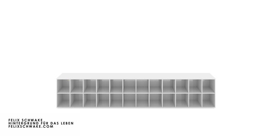 SHELF III-II Numbered and signed edition limited to 6 pieces - piano lacquer white by RECHTECK FELIX SCHWAKE | Shelving