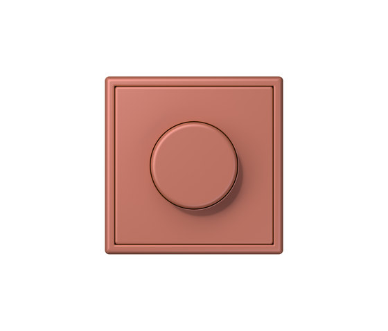 LS 990 in Les Couleurs® Le Corbusier rotary dimmer 32121 terre sienne brique by JUNG | Rotary switches