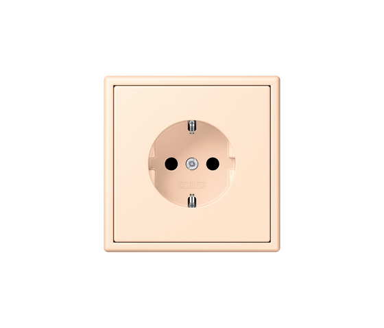LS 990 in Les Couleurs® Le Corbusier | socket 32123 terre sienne pâle by JUNG | Schuko sockets