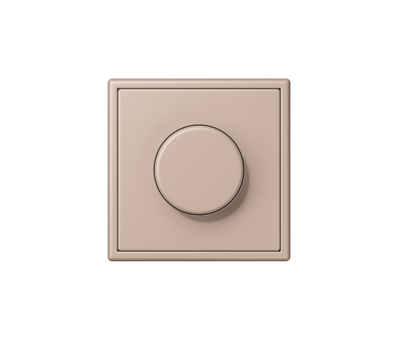LS 990 in Les Couleurs® Le Corbusier | rotary dimmer 32131 ombre brûlée claire by JUNG | Rotary switches