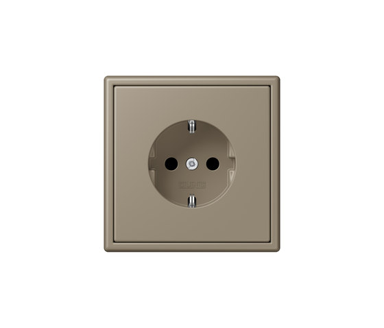 LS 990 in Les Couleurs® Le Corbusier | socket 32141 ombre naturelle moyenne by JUNG | Schuko sockets