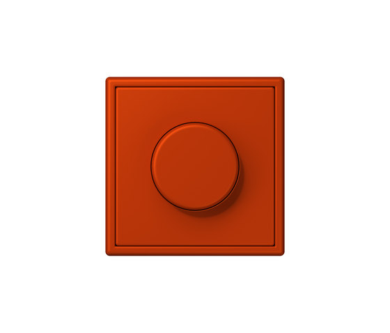 LS 990 in Les Couleurs® Le Corbusier | rotary dimmer 4320A rouge vermillon 59 by JUNG | Rotary switches