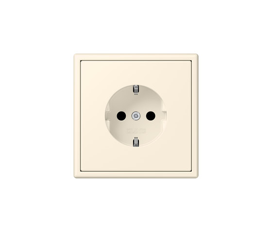 LS 990 in Les Couleurs® Le Corbusier socket 4320B blanc ivoire by JUNG | Schuko sockets