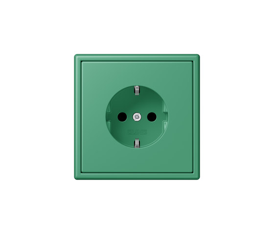 LS 990 in Les Couleurs® Le Corbusier socket 4320G vert 59 by JUNG | Schuko sockets