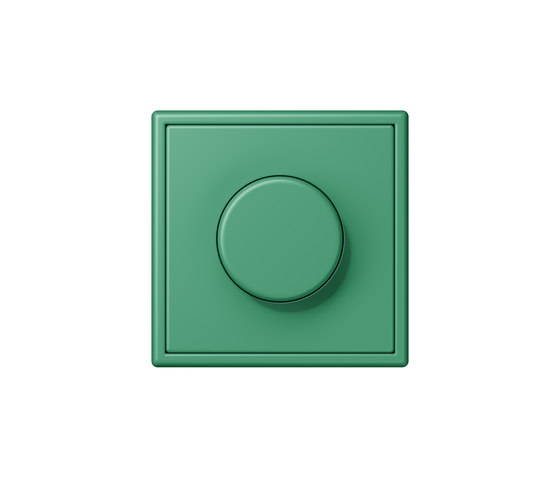 LS 990 in Les Couleurs® Le Corbusier | rotary dimmer 4320G vert 59 by JUNG | Schuko sockets